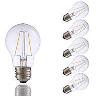 2W E26 Izzószálas LED lámpák A17 2 COB 200 lm Meleg fehér Állítható AC 110-130 V 6 db.