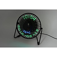 Novelty 3-in-1 Desktop calendar,clock&temperature fan 130cm 145*168*115 Black