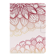 For Apple iPad Air 2 Air 4 3 2 PU Leather Material Rose Flower Pattern Painted Flat Panel Protective Case