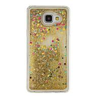 Için Akan Sıvı Pouzdro Arka Kılıf Pouzdro Glitter Parlatıcı Yumuşak TPU için Samsung A5(2016) / A3(2016)