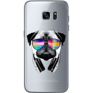For Ultratyndt / Transparent / Mønster Etui Bagcover Etui Hund Blødt TPU for Samsung S7 edge / S7 / S6 edge plus / S6 edge / S6