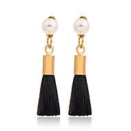 Druppel oorbellen Parel Legering Wit Zwart Grijs Sieraden Voor Dagelijks Causaal 1 paar