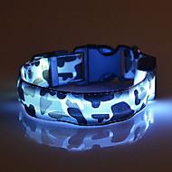 Colarinho Luzes LED Retratável camuflagem Náilon