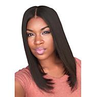 βραχείας ίσιας μέσο πλευρά κτύπημα συνθετικές περούκες μαύρη σκούρα καφέ ανθεκτικό στη θερμότητα μαλλιά