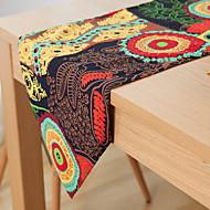 Dikdörtgen Çiçekli Desenli Masa Runner'ları , Linen Malzeme Otel Yemek Masası Tablo Dceoration