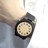 Herre Dame Unisex Sportsklokke Moteklokke Unike kreative Watch Japansk Quartz / Lær Band Vintage Fritid Svart Brun Kaki Merke