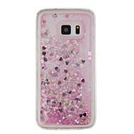 For Flydende væske / Mønster Etui Bagcover Etui Glitterskin Blødt TPU for Samsung S7 edge / S7 / S6 edge / S6 / S5