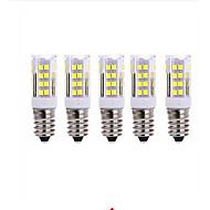 5PCS E14 51Smd 2835 LED 5 W 850lm AC220 warm white light small ceramic corn lamp