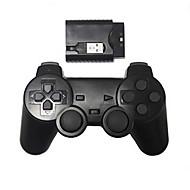 PS2 / PS3 / PC 무선 컨트롤러를위한 새로운 무선 충격 게임 컨트롤러 (2.4 / 블랙)