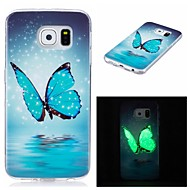 For Samsung Galaxy S7 edge S6 Cover Case Glow in The Dark IMD Pattern Case Back  Butterfly Soft TPU for S7 S6 edge S5