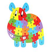 Jigsaw Puzzle Stresszoldó Fejlesztő játék Fejtörő Építőkockák DIY játékok Ló 1 Fa