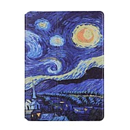 For Apple iPad Air2 Air Case Cover Star Month Night Pattern PU Leather Stent Flat Shell