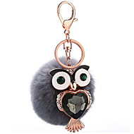 Key Chain Sphere / Bird Key Chain Gray Metal / Plush