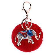 Key Chain Sphere Elephant Key Chain Metal Plush