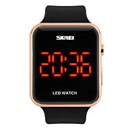SKMEI ユニセックス ファッションウォッチ デジタル LED カレンダー 耐水 夜光計 PU バンド クール ブラック 白 ローズ