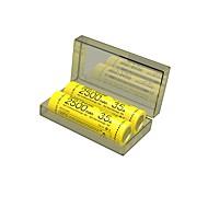 nitecore imr18650 3100mah 35a li-ion oppladbart batteri (to batterier / boks)