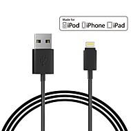 mfi gecertificeerde USB-kabel sync laadkabel voor iPhone 7 6s plus se 5s ipad 1m ppid146643-0073