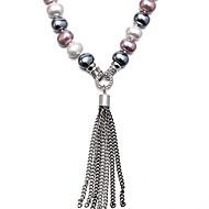 Női Rövid nyakláncok Gyöngy Kagyló Karika Ezüst Ékszerek Napi 1db