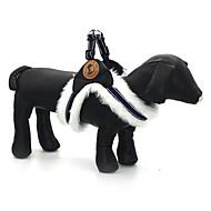 犬用品 ハーネス 反射 調整可能/引き込み式 純色 ブラック ホワイト ブラウン クロス PUレザー