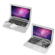 "ultra tynn tpu tastaturet dekselet + metall resten beskyttende film og berøringspanel membran for 11,6 ""/13.3"" MacBook Air"