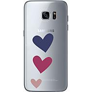 Mert Ultra-vékeny Átlátszó Minta Case Hátlap Case Szív Puha TPU mert Samsung S7 edge S7 S6 edge plus S6 edge S6