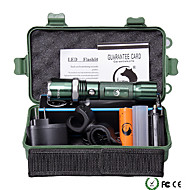 U'King ZQ-940G-US CREE XML-T6 2000LM 5Mode Flashlight Torch Kit with Attack Head Self-defense Function and Bike Mount