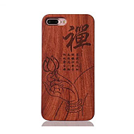 For Shockproof Embossed Pattern Case Back Cover Case Zen Pattern Hard Rosewood and PC Combination for Apple iPhone 7 7 Plus 6s 6 Plus SE 5s 5
