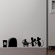 카툰 로맨스 판타지 벽 스티커 플레인 월스티커 데코레이티브 월 스티커,비닐 자료 이동가능 홈 장식 벽 데칼