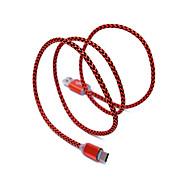 USB 2.0 Type C Gevlochten Kabel Voor Samsung Huawei Sony Nokia HTC Motorola LG Lenovo Xiaomi 100 cm Nylon