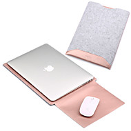 Rękawy na MacBook Pro 15 cali MacBook Air 13 cali MacBook Pro 13 cali MacBook Air 11 cali Macbook Solid Color Sztuczna skóra Materiał
