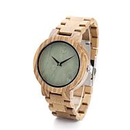 Dames Heren Modieus horloge Horloge Hout Kwarts / Hout Band Vrijetijdsschoenen Kaki