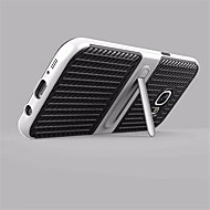 For with Stand Case Back Cover Case Solid Color Hard Carbon Fiber for Samsung S8 Plus S8 S7 edge S7 S6 edge plus S6 edge S6