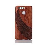 Için Şoka Dayanıklı Süslü Temalı Pouzdro Arka Kılıf Pouzdro Kuş tüyü Sert Ahşap için Huawei Huawei P9 Huawei P9 Lite