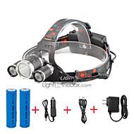 Hoofdlampen LED 4000 Lumens 4.0 Modus Cree XP-G R5 Cree XM-L T6 18650 Compact formaatKamperen/wandelen/grotten verkennen Dagelijks
