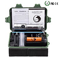 U'king ZQ-X906S#1-EU T6 1000LM LED 5Modes Dimming Flashlight Torch Kit Support DC Charging Battery with Battery and Charger