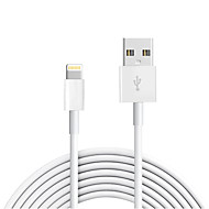 Lightning USB 2.0 Sladd Laddningskabel Laddningssladd Data och synkronisering Normal Kabel Till Apple iPhone iPad 300 cm TPE