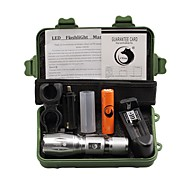 U'King ZQ-X1017S#-EU CREE XML T6 2000LM 5Modes Zoomable Clip Flashlight Torch Kit with Battery and Charger