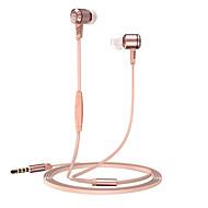 langsdom M410 Metall schwerer Baß-Kopfhörer mit Mircophone Faden Linie Stereo-Musik-Kopfhörer für iphone Samsung huawei xiaomi