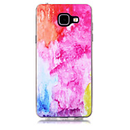 For Transparent Mønster Etui Bagcover Etui Farvegradient Blødt TPU for Samsung A3 (2017) A5 (2017) A7 (2017) A7(2016) A5(2016) A3(2016)