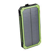 16000mAhStrømbank Eksternt Batteri Solopladning Multi-udgange Vandtæt Stødsikker Lommelygte 16000 2000Solopladning Multi-udgange Vandtæt