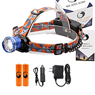 U'King® ZQ-X830BL#1-US CREE XML-T6 LED 2000LM Zoomable 180 Rotate 3Modes Headlamp Bike Light Kits with Rear Safety LED
