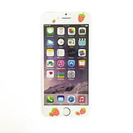 til Apple iPhone 7 4.7 tommer hærdet glas med blød kant fuld skærm dækning foran skærmbeskytter tegneserie jordbær mønster