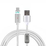 USB 2.0 Micro USB 2.0 編み マグネット ケーブル 用途 Samsung Huawei Sony Nokia HTC Motorola LG Lenovo Xiaomi 100 cm ナイロン アルミニウム
