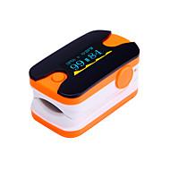digital fingertopp pulsoximeter OLED-display pulsmätare blå och orange