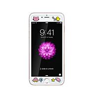 iPhone 6 / 6s 4.7inch karkaistu lasi läpinäkyvä edessä näytön suojakalvon kanssa emboss piirretty kuvio loistaa pimeässä poikasen