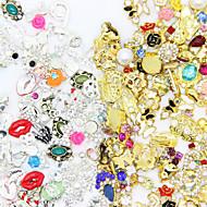 50pcs High Quality Random Mix of Manicure Alloy Jewelry