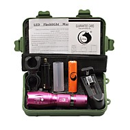 U'King ZQ-X1017RR#-EU CREE XML T6 2000LM 5Modes Zoomable Clip Flashlight Torch Kit with Battery and Charger