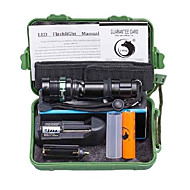 U'King ZQ-X1029B#-EU CREE XML T6 2000LM 3Modes Zoomable Flashlight Torch Kit with Battery and Charger