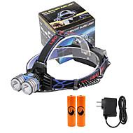 Hodelykter LED 4000 Lumens 3 Modus Cree XM-L T6 18650 mobile strømforsyning Kompaktstørrelse NødsituasjonCamping/Vandring/Grotte
