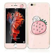 iPhone 6s / 6 4.7 karkaistua lasia pehmeällä reunaan peittää koko näytön edessä näytön suojakalvon ja selkäsuoja mansikka sarjakuva